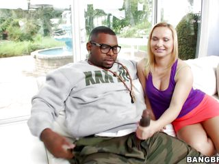 dark hunk and blonde cunt