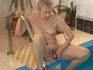 granny getting wet