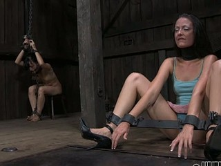 Sweet sweetheart is made to devour anal output during torture