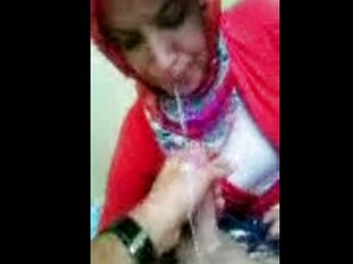 Perfect  Oral stimulation Turkish Hijab