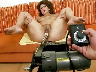 Lusty granny doing blowjob and riding rod