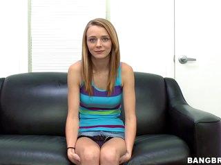 Shy non-professional beauty Ava Hardy i