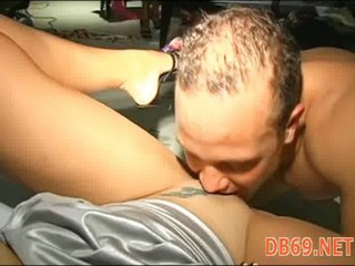 Harlots engulfing in undress club