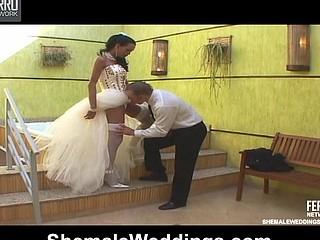 Bruna glamorous shemale bride