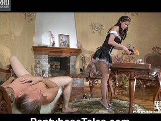 Beatrice&Arthur videotaped whilst pantyhosing