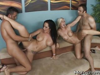 really hot foursome ... two girls ...
