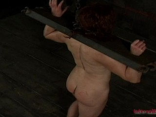 BDSM torture for sexually excited brunette