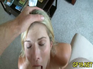 Teen surrenders to a huge cock