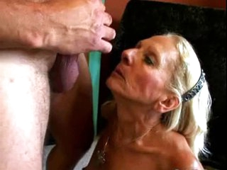 Wrinky and Hairy Granny suck and fuck