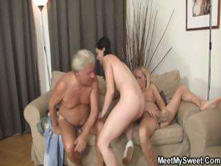 This couple's parents join in on this sex orgy of a foursome