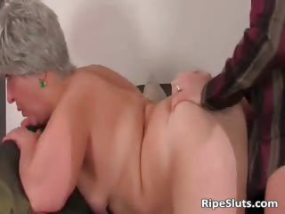 Breasty chubby aged slut gets soaked beefy