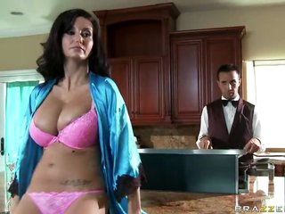 MILF Ava Addams Titty Bonks Her Butler With Her Big Natural Tits