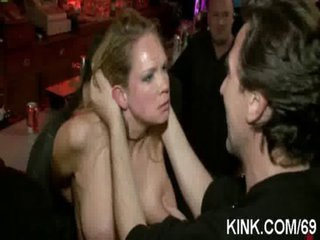 Busty beauty and servant abased and screwed