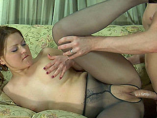 Megan&Rolf videotaped during the time that pantyhosing