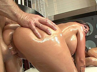 large butt oil orgy two