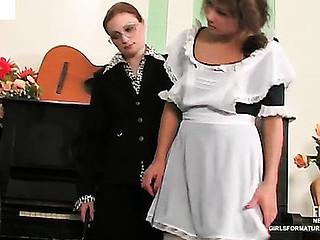 Rita&Gloria pussylicking aged on video