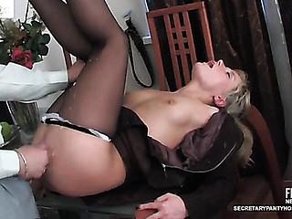 Benett&Adam office pantyhose clip