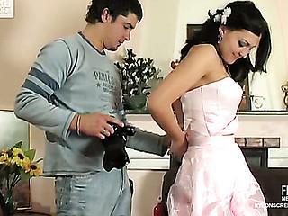 Laura&Adam sexy nylon movie scene