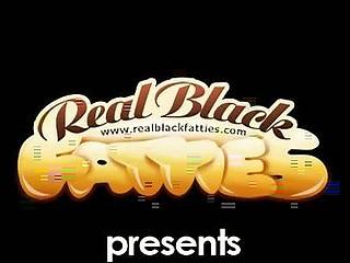 Black BBW's twat ravaged by black cock
