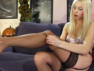 Esther wearing sexy nylons