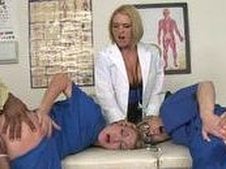 The nurses and Dr. Krissy take turns getting pounded.