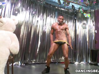 dancing darksome bear and his white buddy