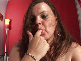 hot mom making love with her self