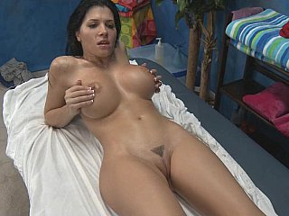 Rebecca receives fucked very hard after massage