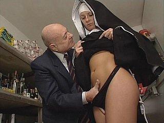 Nun & Smutty old man. No sex