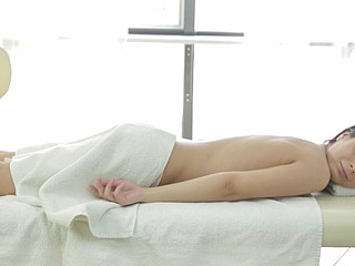 Massage with cheerful ending for one as well as the other