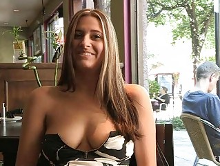 Patricia hot milf with sunglasses flashing zeppelins in public and buying banana