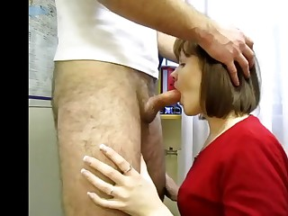 Miss Isakina. Workplace blowjob