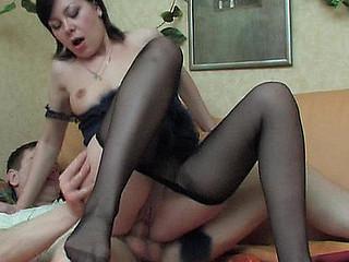 Sibylla&Oscar nasty nylon feet movie