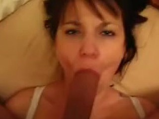 Facial spunk flow for breasty wife movie scene