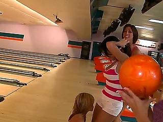 Amazing nubiles bowling featuring Alexis Fawx, Anastasia Morna, Brandy Aniston, Diamond Kitty