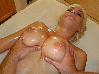 Lexi Busty Blond Massage