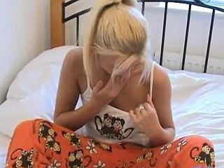 Fawn can't live out of naughty talk and caressing her nipps