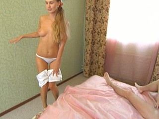 Blond enjoys having her taut twat played with