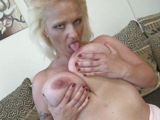 blonde older loves her love melons