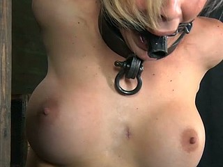 Chained blonde chick needs sexy torment
