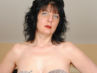 Check out this brunette hair aged whore playing with a immodest marital-device
