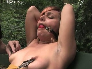 Beautiful sexy hotty knox suspended, dog play, thraldom and anal sex.