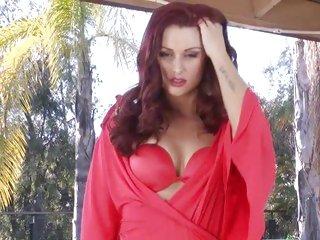 Astounding Karlie Montana strips outta her lingerie