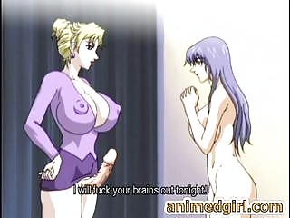 Breasty manga shemale copulates the shit out of her hawt ally