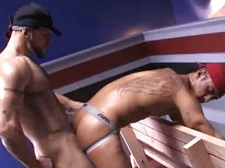 Baseball Player Dominating Partner In The Dugout