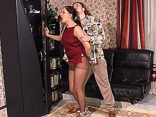 Laura&Mike videotaped whilst pantyhosefucking