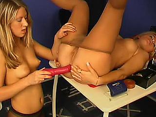 Veronica&Tina seductive anal pantyhose movie scene