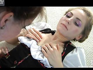 Louisa B&Judith horny nylon feet movie scene