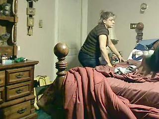 Melany bedroom voyeur