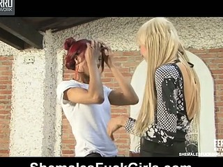 Rafaela&Nicole lady-man bonks beauty movie scene